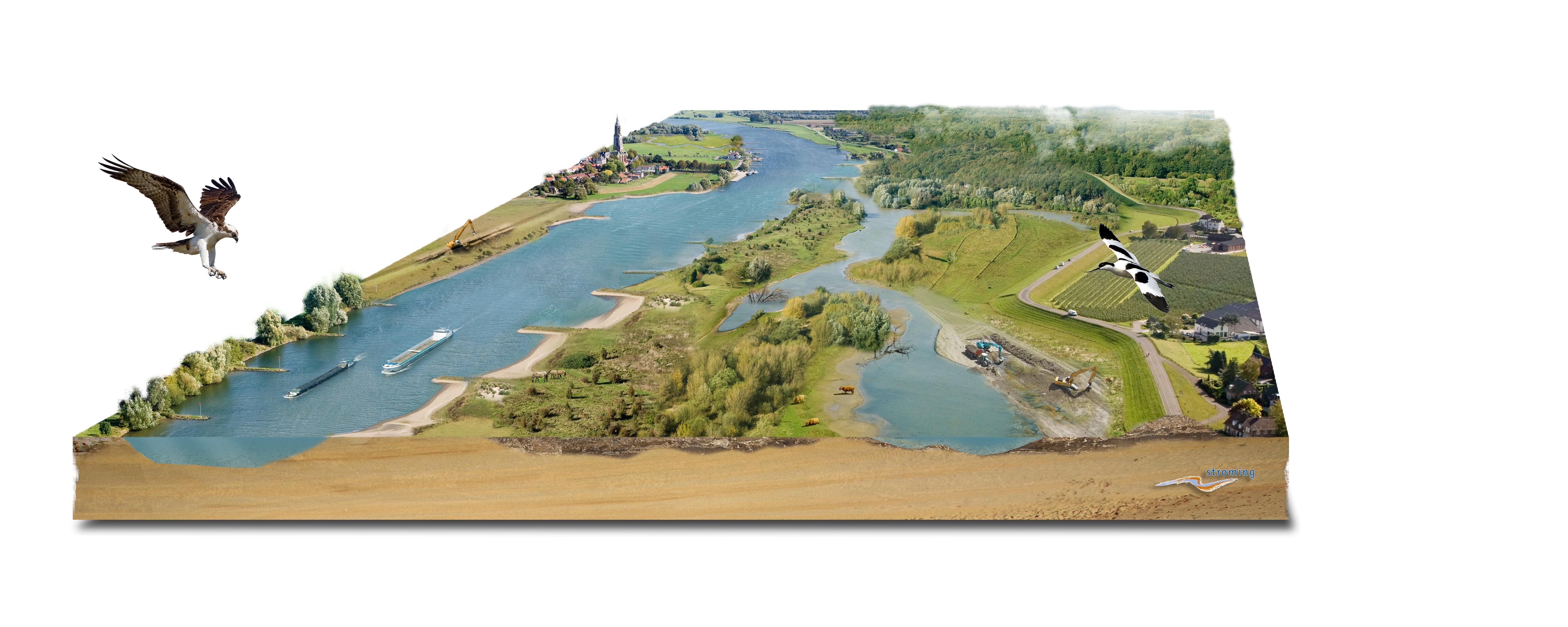 Ruimte voor levende rivieren bureau stroming - Outs idee open voor levende ...
